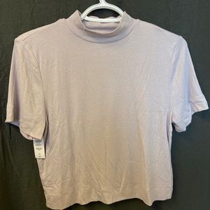 Gonzalo shirt from Aritzia in the colour Lilac Fog